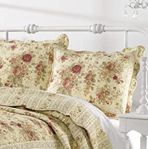 Greenland Home Antique Rose King Sham-Multi, Multicolor