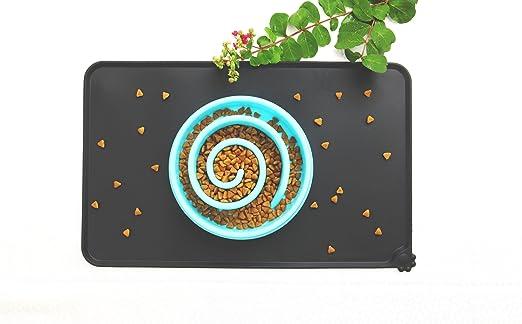 Alfombrilla de silicona impermeable ideal para cuenco de mascotas, de Vealind: Amazon.es: Productos para mascotas