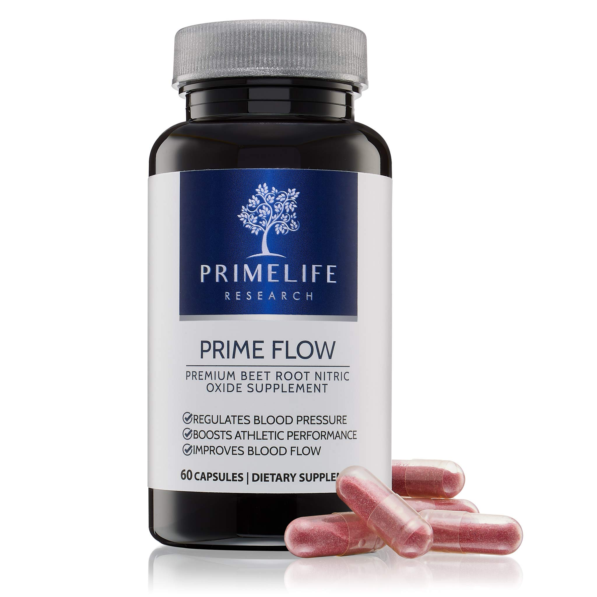 Beet Root Nitric Oxide Supplement - Prime Flow | Daily Dietary Nitrate Supplement | Lower Blood Pressure Naturally | Improve Heart Health | Increase Blood Flow and Circulation by PrimeLife Research (Image #2)