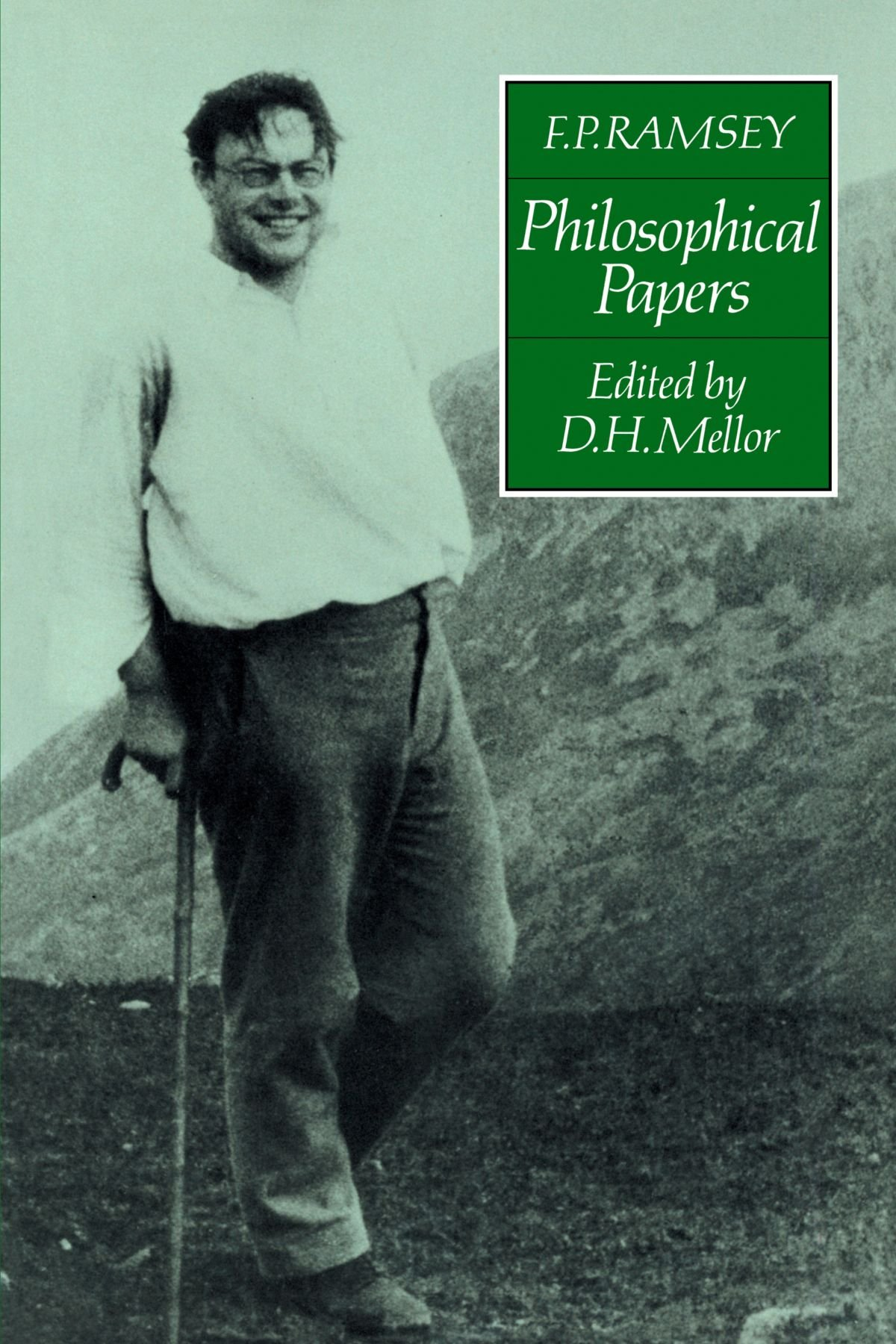 F P Ramsey Philosophical Papers Amazon D Mellor