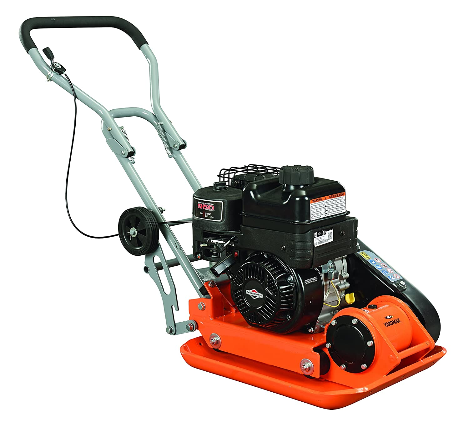 YARDMAX YC1390 3000 lb. Compaction Force Plate Compactor, 6.5 hp, 208cc, 5500 BPM, Briggs & Stratton