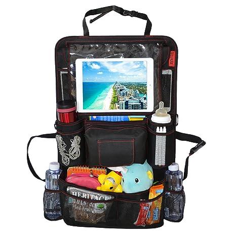 Coche asiento trasero Organizador para bebé Niños con iPad Holder Suasi plegable para carrito organizador con