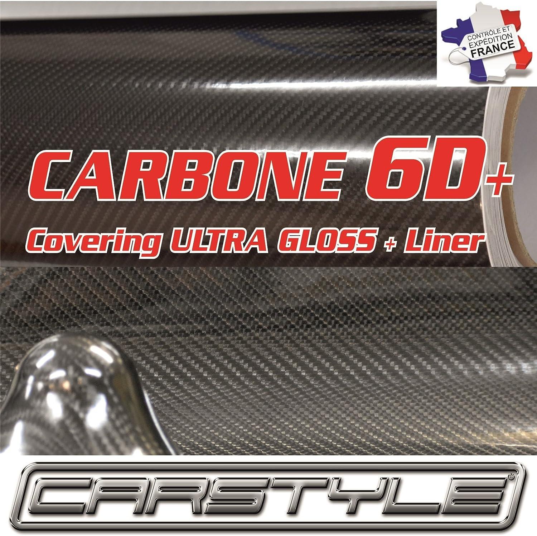 film vinyle carbone 5D noir thermoformable sticker adhésif PREMIUM 152cm x 30cm