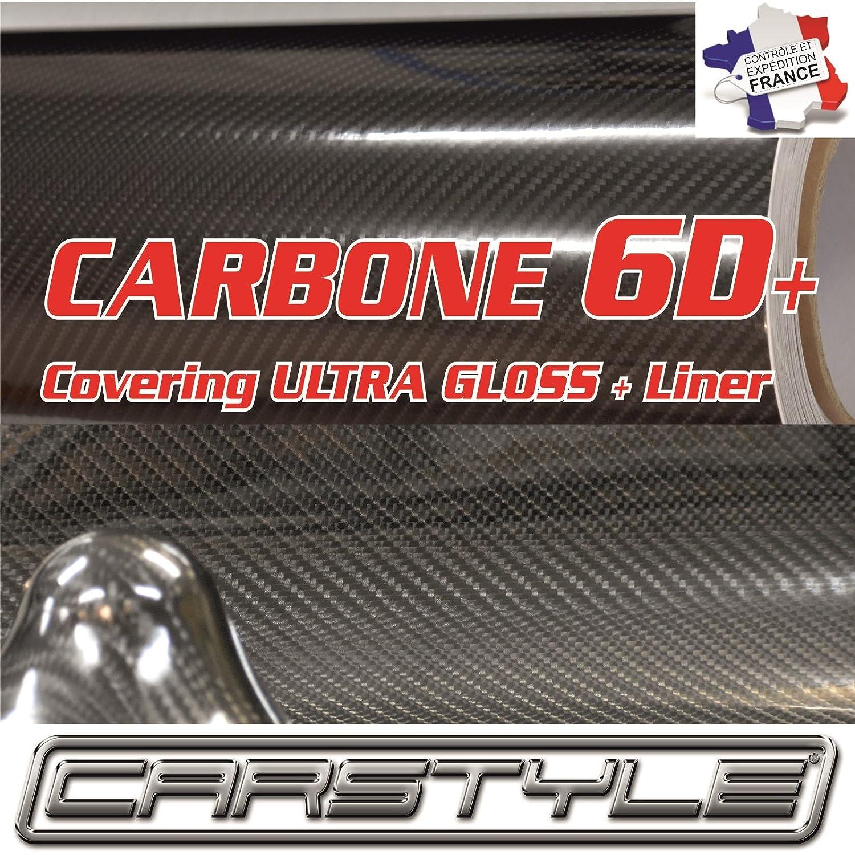 carstyle carbonio 6d + Pellicola Vinile Covering thermoformable Bubble Free Grigio, passo 3d 4d 5d