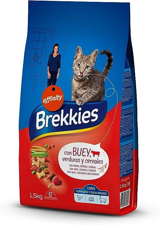 Brekkies Cat - Buey Y Verduras 1,5 Kg: Amazon.es: Alimentación y ...