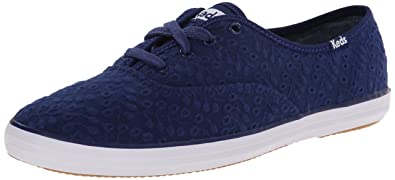 7fd3a7dc239 Keds Women s Champion Eyelet Navy Ankle-High Fabric Tennis Shoe - 7M