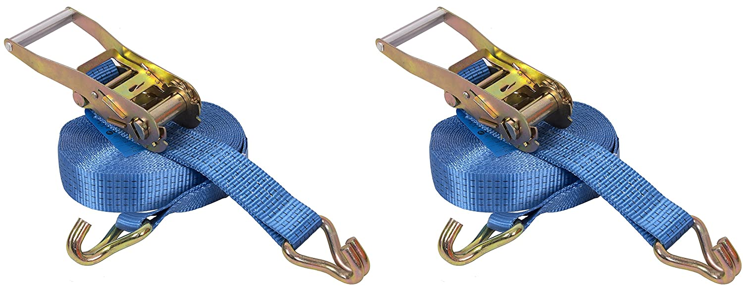 5000kg x 10mtr M.B.S Ratchet Lashing Tie Down Straps with Chassis Hook (2 Pack) SafetyLiftinGear