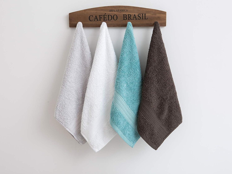 mani GraceAier palestra e spa 68 x 137 cm confezione da 4 viso multiuso per bagno Set di asciugamani da bagno in morbido cotone