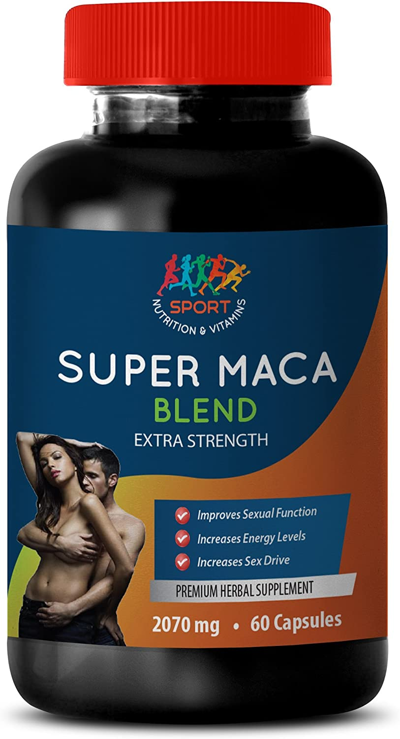 Male Enhancing Pills Erection Best Seller - Super MACA Blend 2070 MG - Extra Strength - maca with Horny Goat Weed - 1 Bottle 60 Capsules