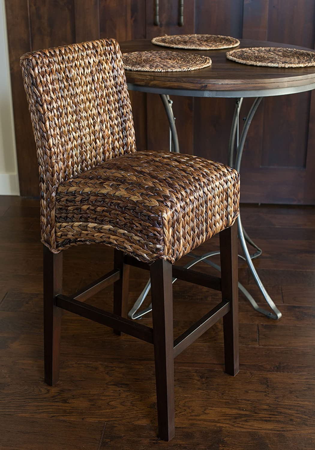 Exceptionnel Amazon.com: Bird Rock Seagrass Barstool (Bar Height) | Hand Woven |  Mahogany Wood Frame | Fully Assembled: Kitchen U0026 Dining
