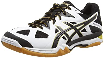Asics Gel-Tactic - Chaussures de Volleyball - Homme - Blanc (White/Black