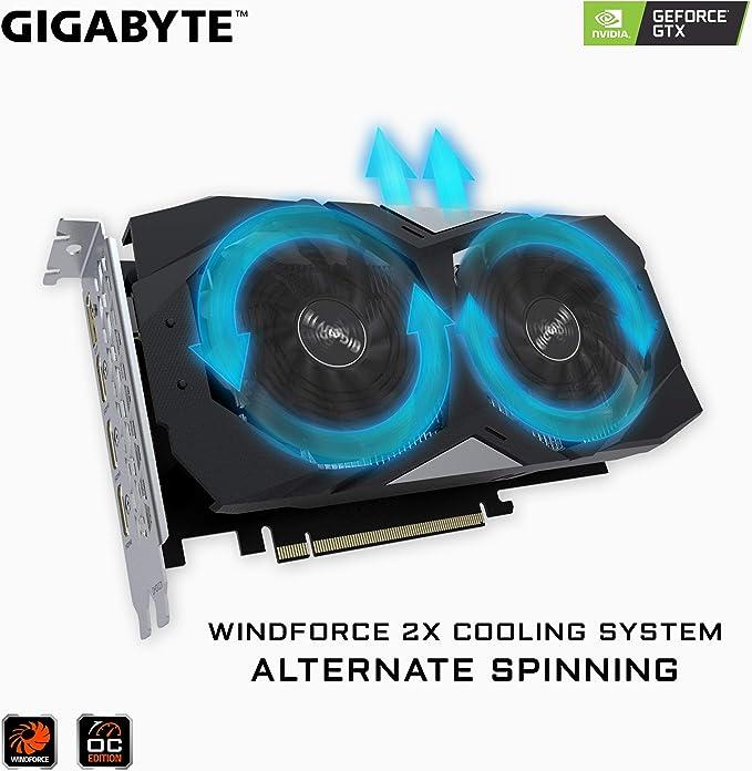 Gigabyte GV-N1650WF2OC-4GD - Tarjeta gráfica (GeForce GTX 1650, 4 ...