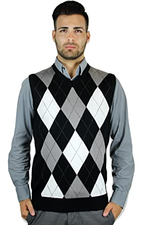 Amazon.com: Blue Ocean Argyle Sweater Vest: Clothing