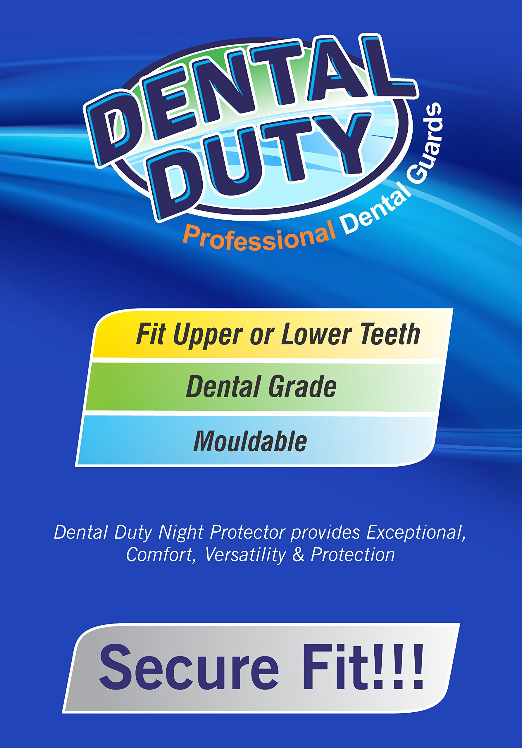 Professional Dental Guard -Pack Of 4- Stops Teeth Grinding, Bruxism, Eliminates Teeth Clenching Includes Fitting Instructions & Anti-Bacterial Case. Satisfaction Is Guaranteed! by Dental Duty (Image #2)