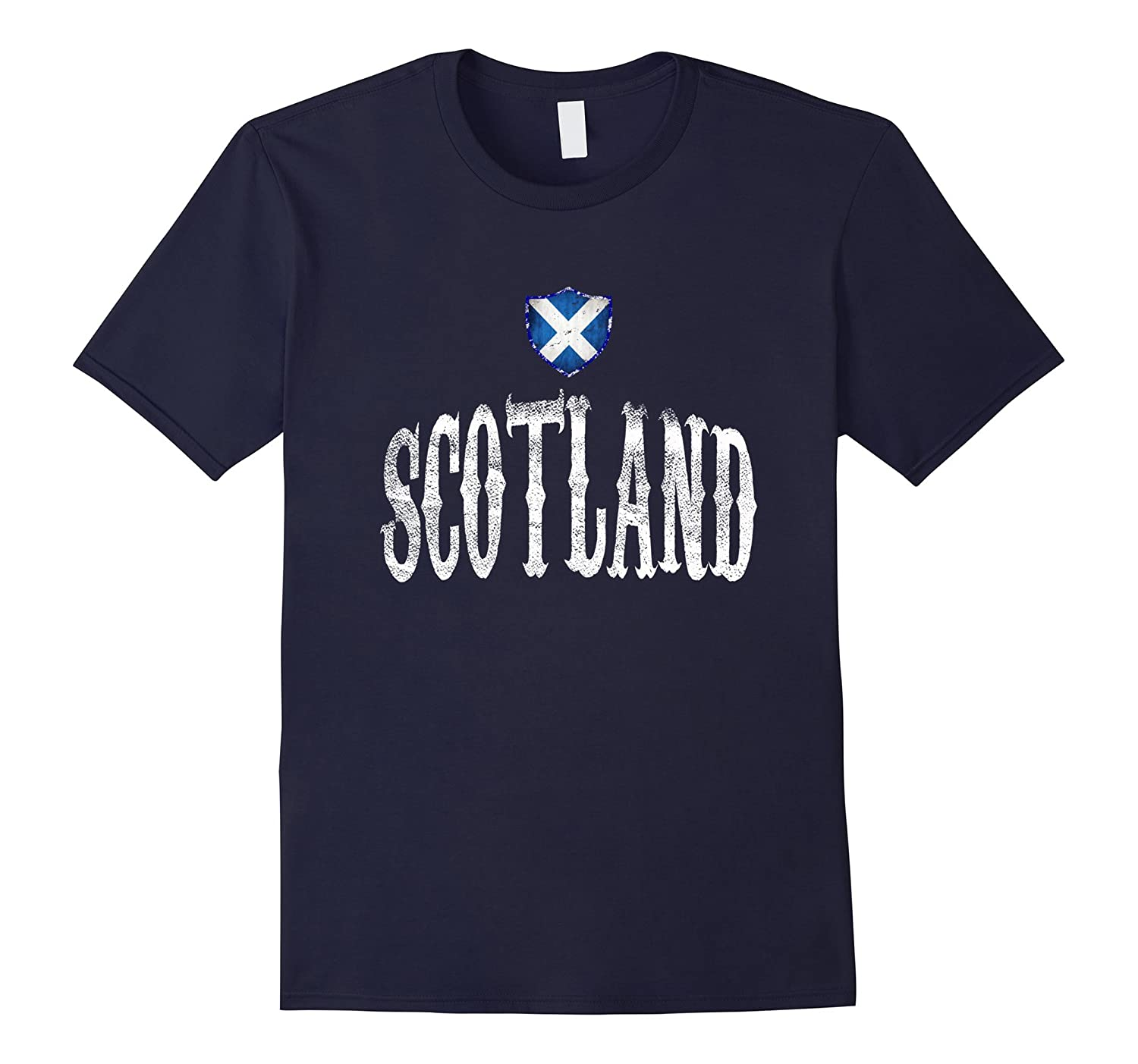 Vintage Scotland Flag T-shirt Scottish Pride Soccer Sport-RT