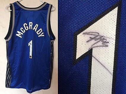 huge discount b0ca9 d32c3 Tracy Mcgrady Autographed Signed Orlando Magic Basketball ...
