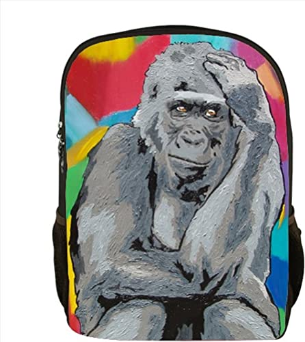Gorilla Backpack, Gorilla Book Bag – From My Original Painting, The Thinker