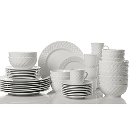 Gibson Home Antique Quilt Dinnerware Set (48-Piece)  sc 1 st  Amazon.com & Amazon.com: Gibson Home Antique Quilt Dinnerware Set (48-Piece ...