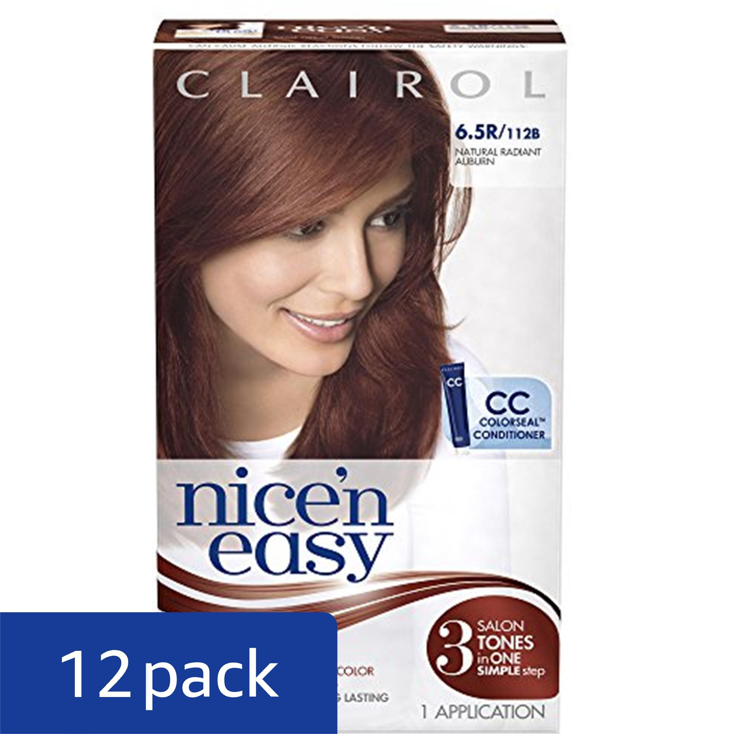 Clairol Nice 'N Easy Hair Color 112 B Natural Radiant Auburn 1 Kit (Pack of 12) by Clairol (Image #2)