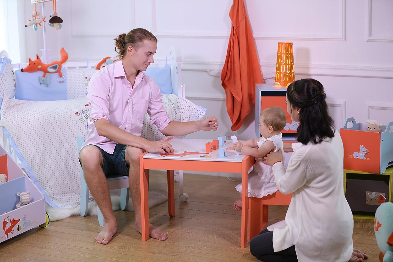 Labebe Kindertisch Holz Weiß Fuchs Baby Tisch Stuhl Für 1