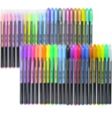 Fineliner Color Pen Set, 1mm Colored Fine Liner Sketch Drawing Pen, Pack of 48 Assorted Colors Gel Pens - Art Supply Colorful Gel Ink Pen School Office Ballpoint Pens