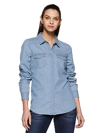 ec9e7503988b Vero Moda Vmdaisy Denim Shirt Lt Blue NS