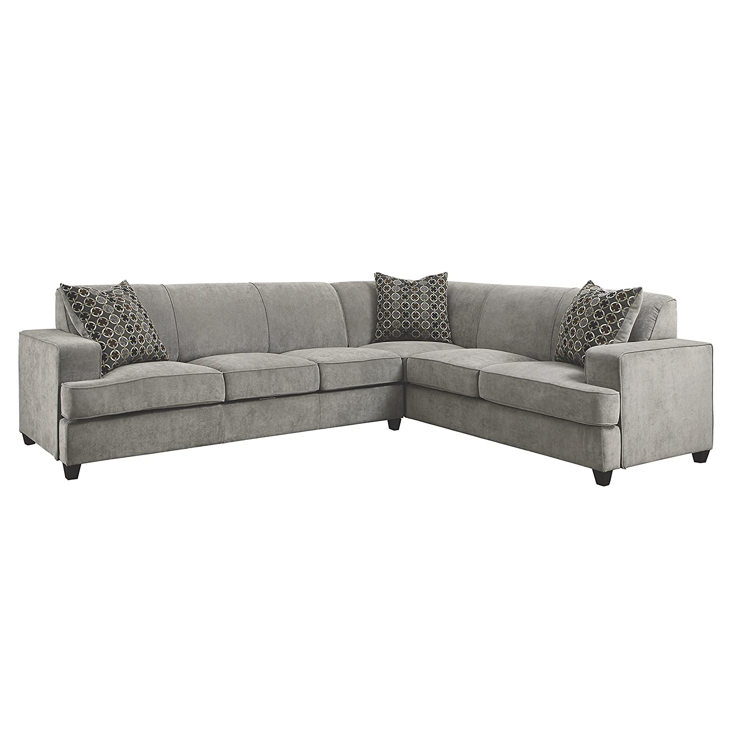 Amazon Coaster Home Furnishings Casual Sectional Sofa