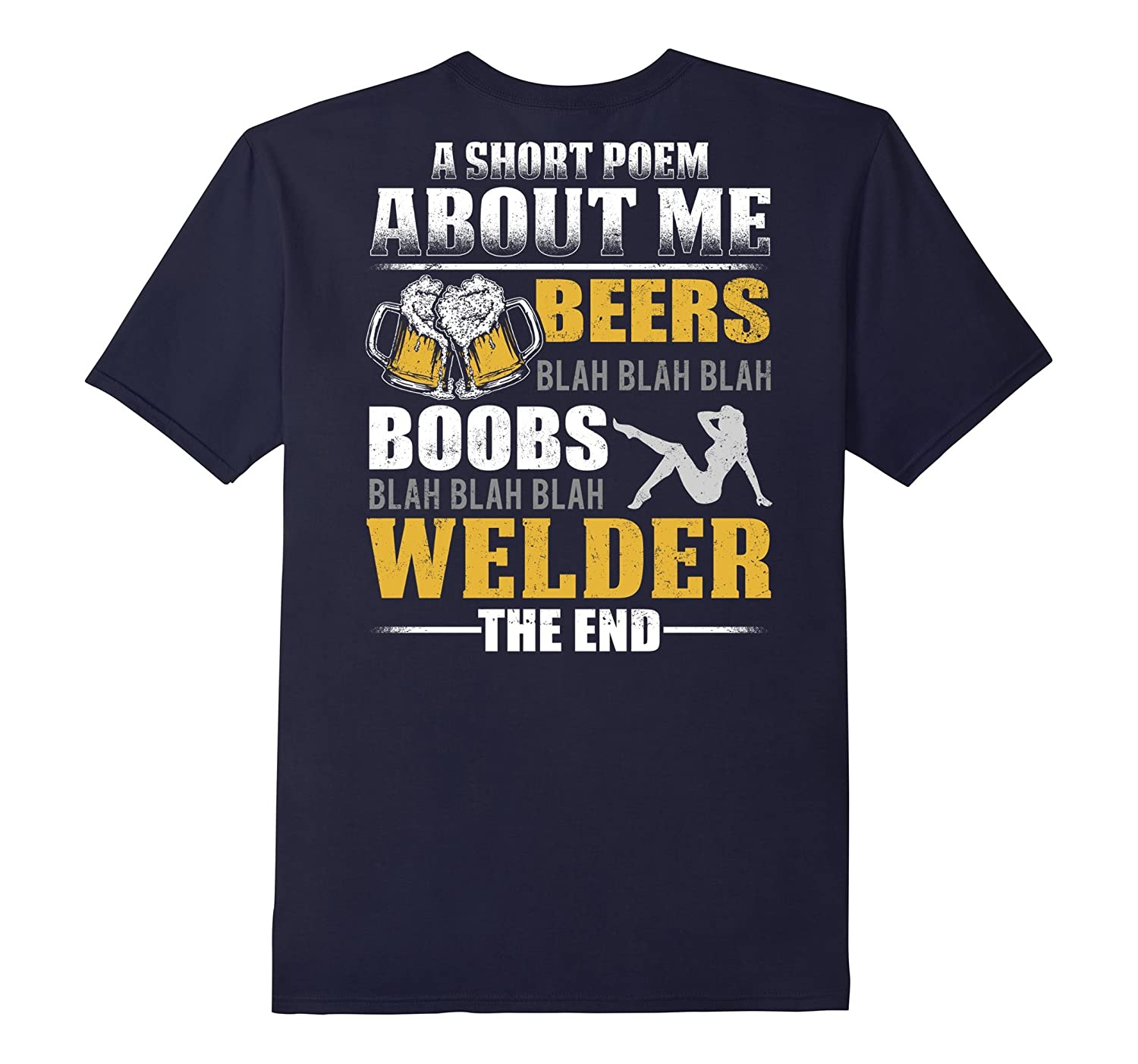 Beers Boobs Blah Blah Welder T-shirt-TJ