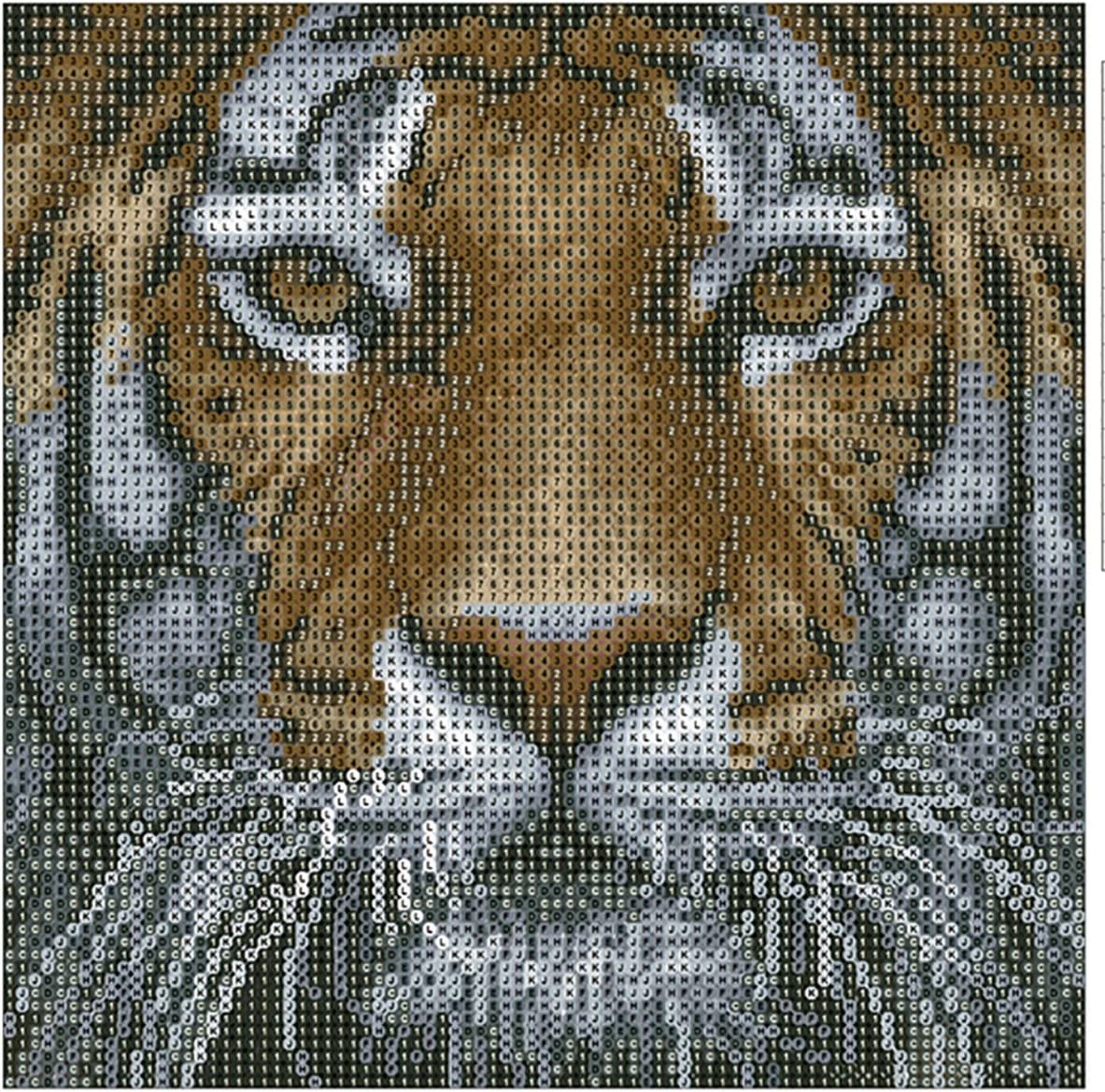 Greatmin DIY 5D Diamond Painting Crystal Rhinestone Embroidery Pictures Arts Craft for Home Wall Decor Blue-Eyed Cat 9.4 x 12.6