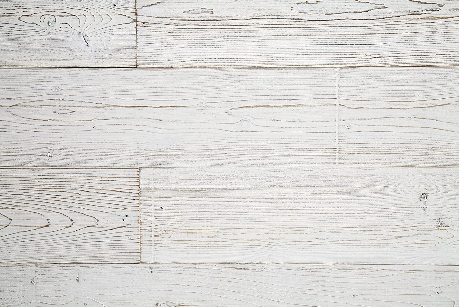 WoodyWalls Peel and Stick Wood Panels (19.5 sq. ft. per box) White Washed Woody Walls woodplunk_20sqf_white