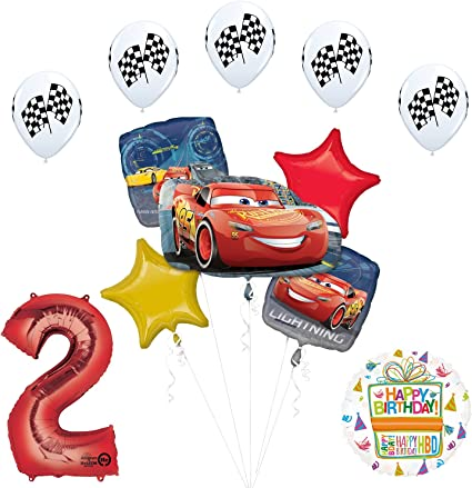 Amazon.com: Disney Cars 3 McQueen 2 nd de iluminación Fiesta ...
