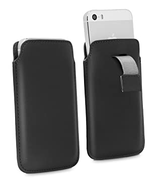 3b6b065fb8 Apple iPhone SE Pull Tab - High Quality PU Leather: Amazon.co.uk:  Electronics
