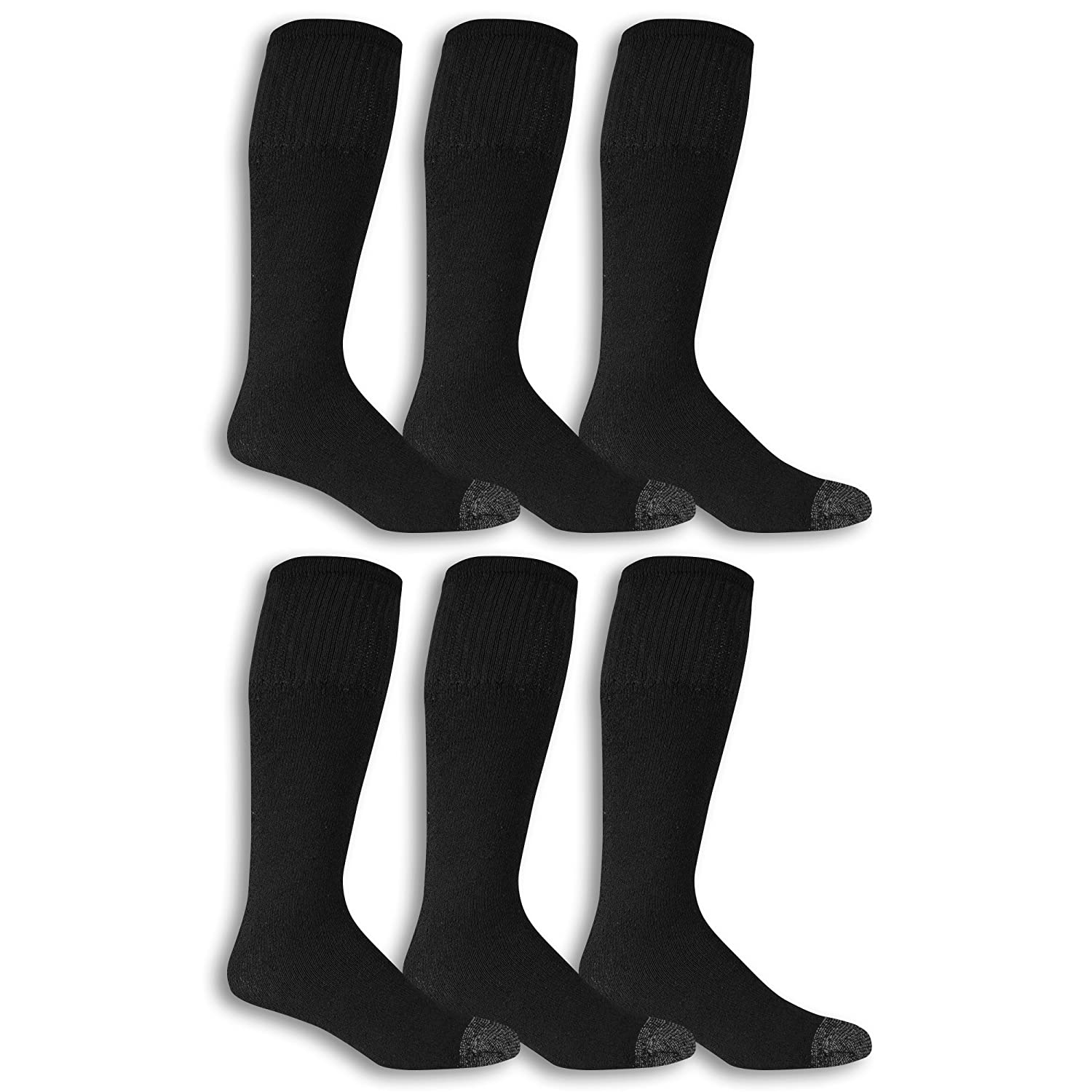 Cushioned Fruit of the Loom Mens Cotton Work Gear Tube Socks Wicking Durable 10 Pack