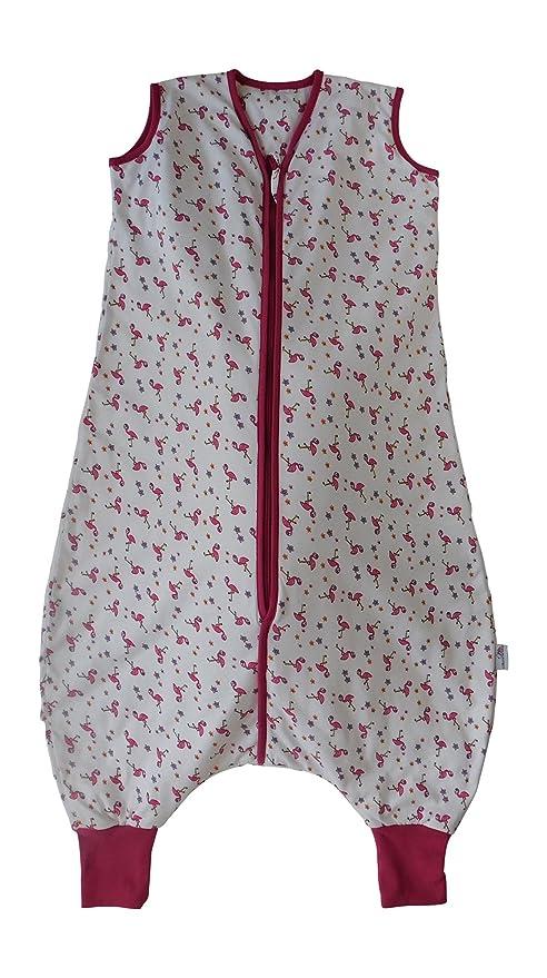 Slumbersac Saco de dormir de verano con pies 1.0 Tog - Flamingo - 3-4