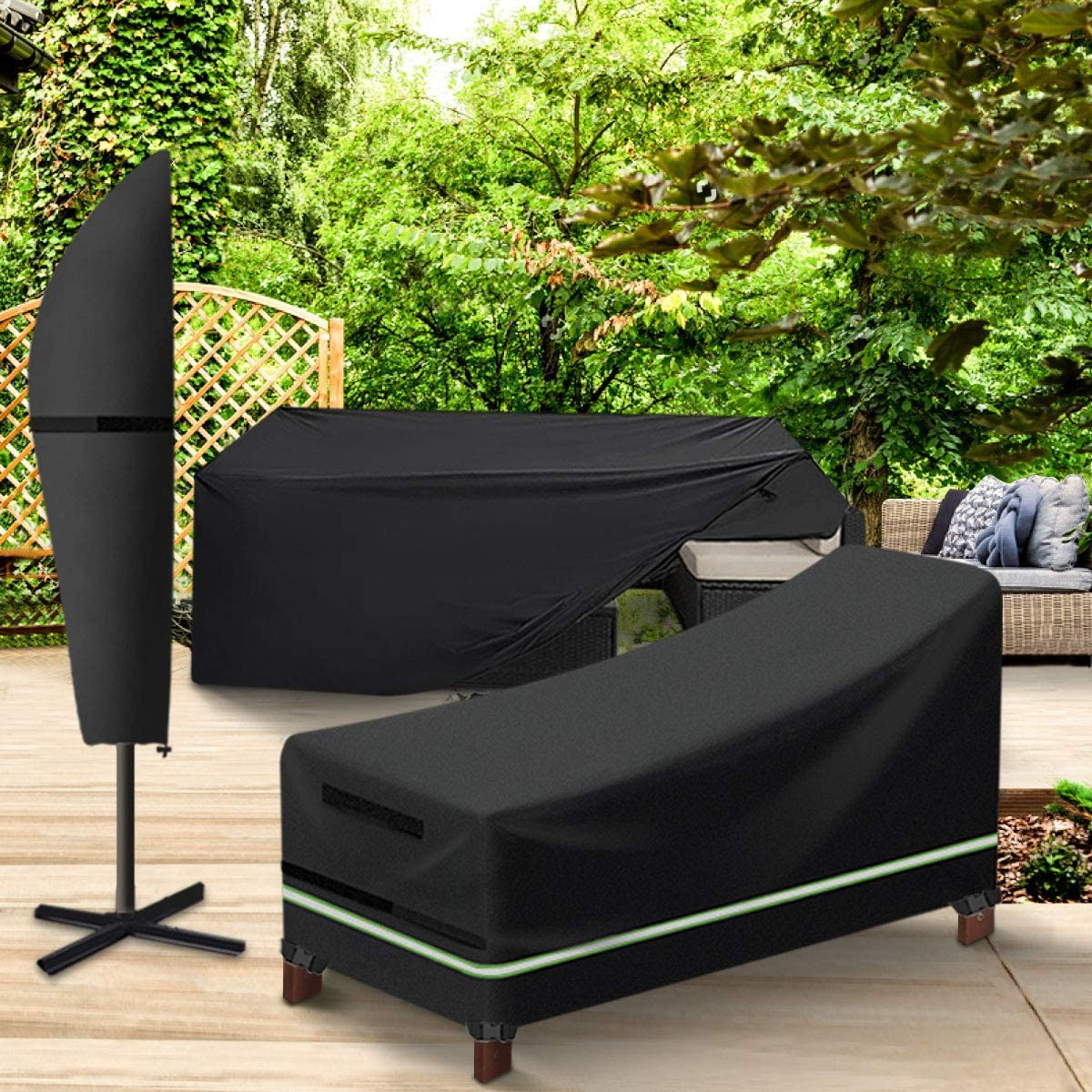 king do way Patio Chaise Lounge Cover and Patio Umbrella Cover