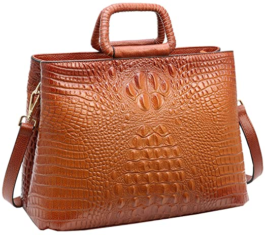 Vintage & Retro Handbags, Purses, Wallets, Bags Tote Heshe Womens Crocodile Leather Shoulder Handbags Bags Satchel Purse $73.90 AT vintagedancer.com