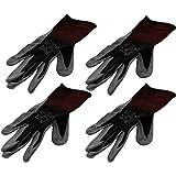 4 Pack Showa Atlas 370BLK Atlas Nitrile Tough Gloves - Small