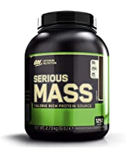 Optimum Nutrition Serious Mass Whey Protein Powder with Vitamins, Creatine and Glutamine. Protein Shakes by ON - Chocolate, 8 Servings, 2.73 kg
