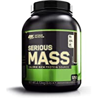 Optimum Nutrition Serious Mass Weight Gainer Whey Protein Powder with Vitamins, Creatine and Glutamine. Protein Shakes by ON - Chocolate, 8 Servings, 2.73kg