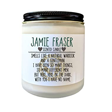 Jamie Fraser Candle Outlander Gift Bookish Candle Gift for Book Lover Sassenach