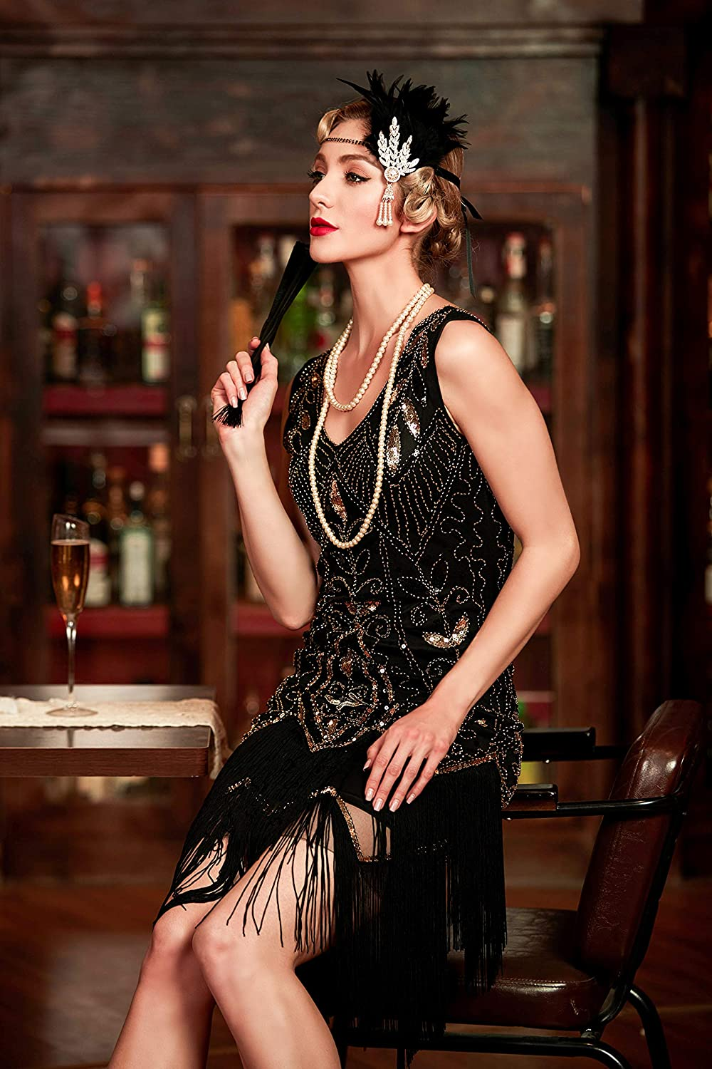 Authentic 1920s Makeup Tutorial Metme Womens 1920s Vintage Flapper Fringe Beaded Great Gatsby Party Dress $60.99 AT vintagedancer.com