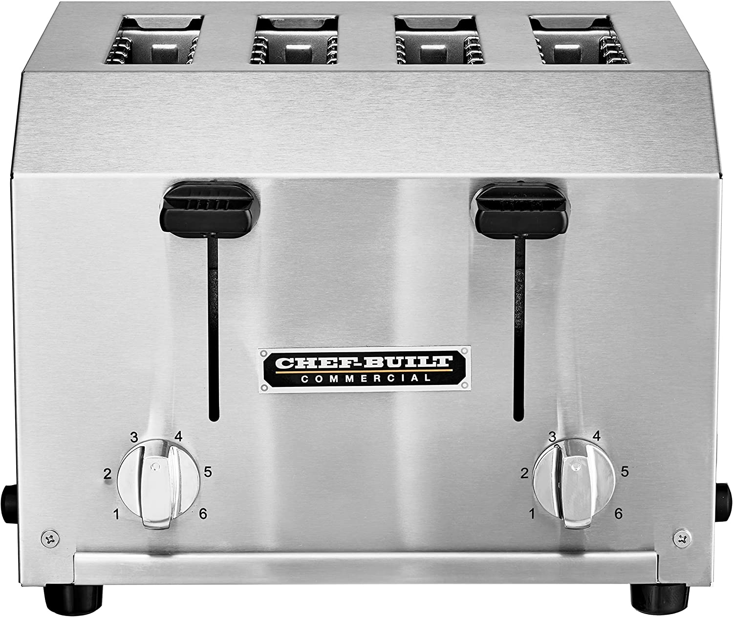 CHEF-BUILT (CCT-250) Heavy Duty Commercial 4 Slice Toaster