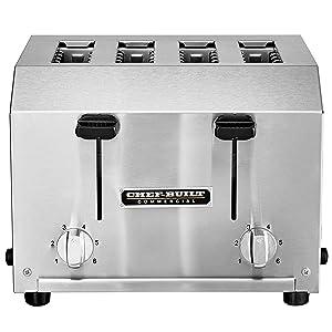 CHEF-BUILT Heavy Duty 4 Slice Toaster CCT-250, 18075