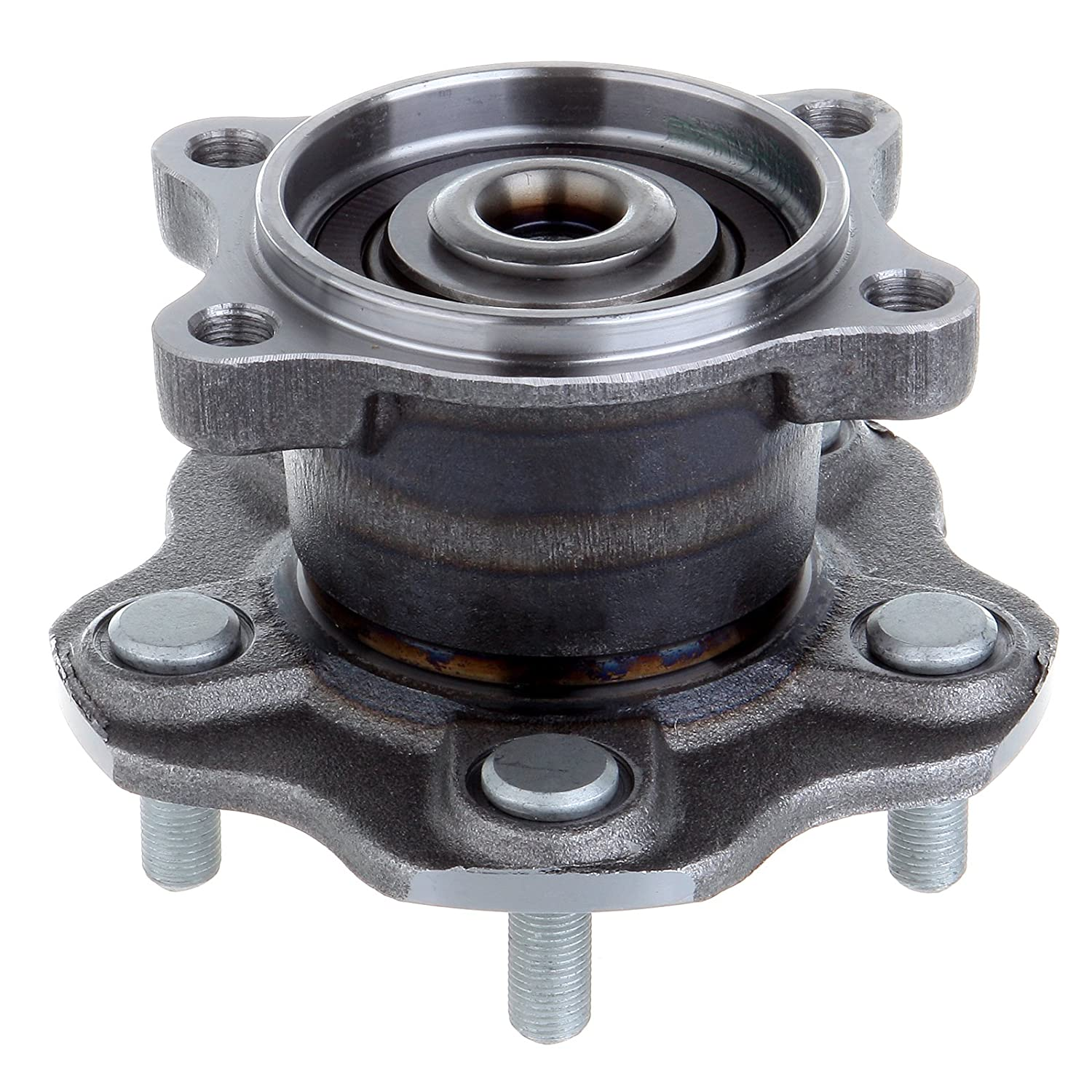 ECCPP Wheel Hub and Bearing Assembly Rear 512201 fit 2002-2006 Nissan Altima Quest Maxima Replacement for 5 Lugs Wheel Hub with ABS 4 Bolt Flange
