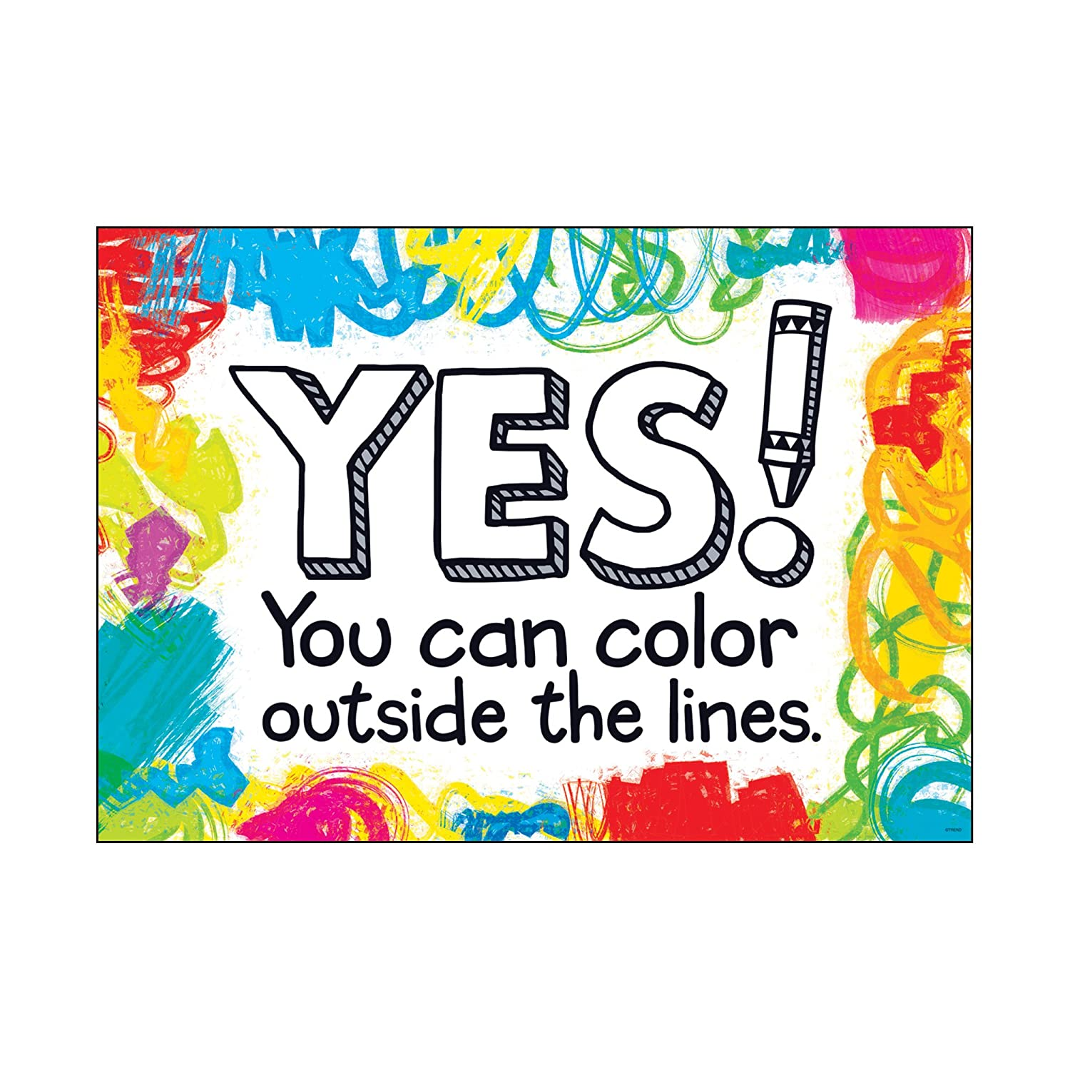Yes! You can color outside... Trend T-A67037
