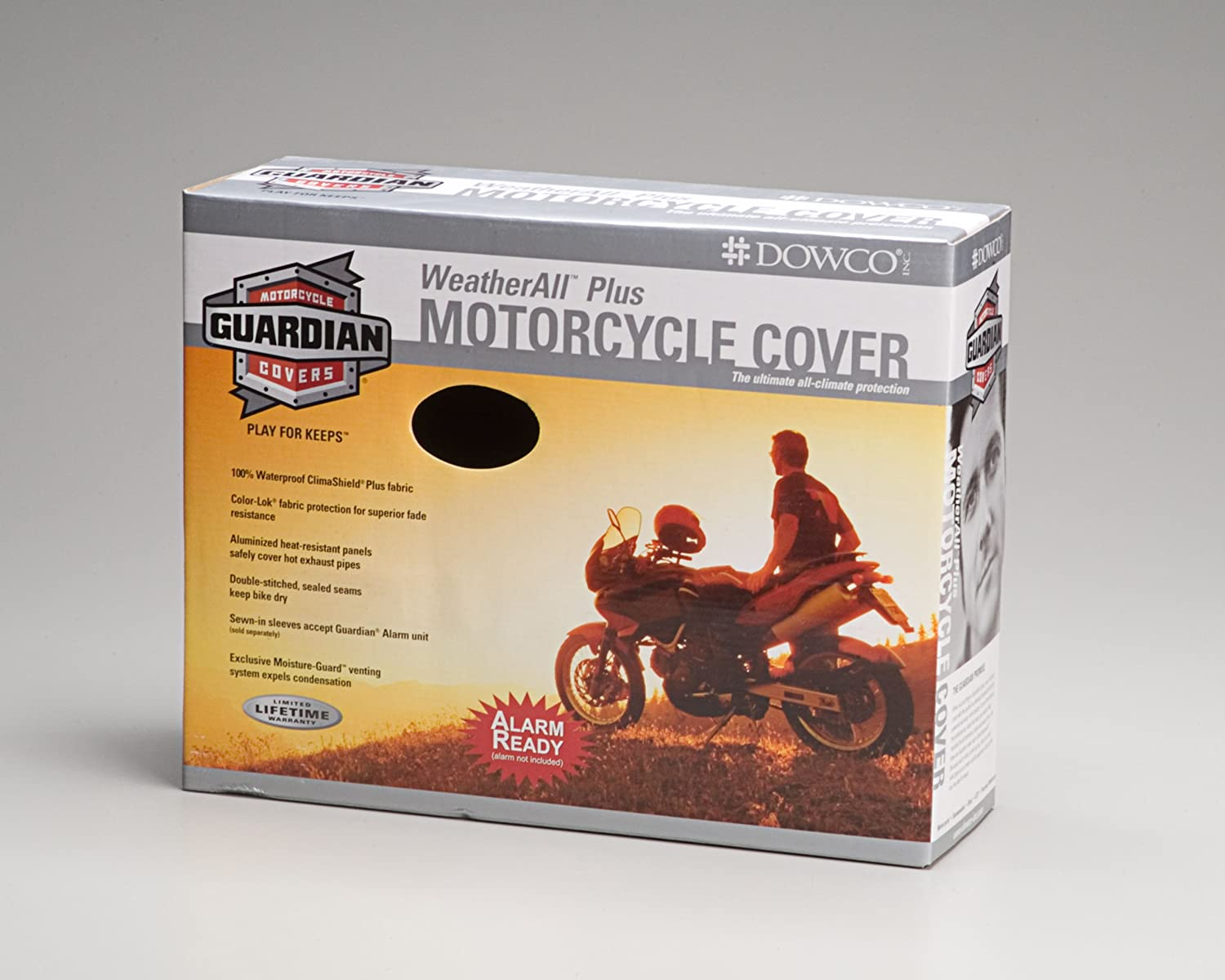 Waterproof Dowco Guardian WeatherAll Plus Indoor//Outdoor Motorcycle Cover Reflective UV Protection XXXL 50006-02 Heat Safe Moisture Guard Vent Lifetime Limited Warranty Black
