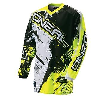 1db20f0a6 O Neal element jersey shocker black yellow hi-vis motocross enduro ...