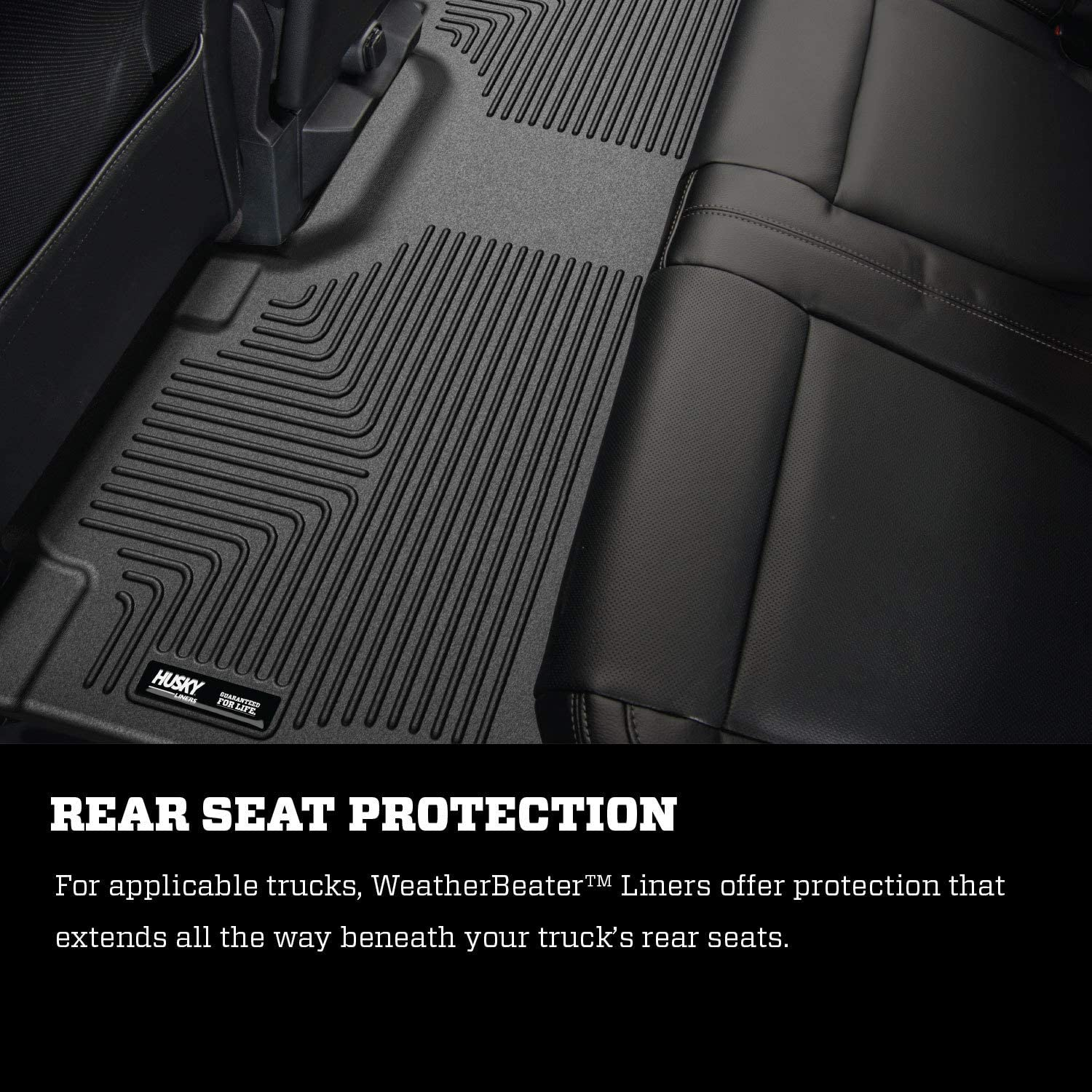 Grey Husky Liners Custom Fit WeatherBeater Front Floor Liner for Select Ford F-150 Models