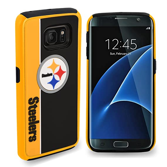 Pittsburgh Steelers Samsung Galaxy S8 Plus Bold Dual Hybrid TPU Cover - 6.2