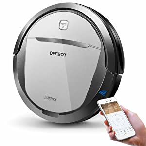 ECOVACS Deebot M80 Pro Robot Vacuum Cleaner with Mop and Water Tank Attachment, Brush Roll Attachment, Sensor Navigation for Pet Hair, Fur, Dirt, Stains, Thin Carpet, Hardwood and Tile Floor